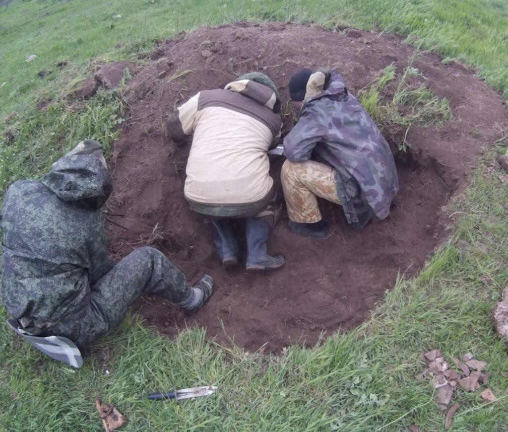 Вахта Памяти на территории крепости Керчь