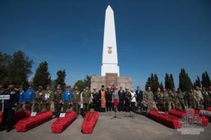 Торжественное перезахоронение погибших в годы Великой Отечественной войны