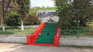 Реставрация памятника погибшим воинам-черноморцам в селе Айвовое 4