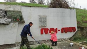 Реставрация памятника погибшим воинам-черноморцам в селе Айвовое 3